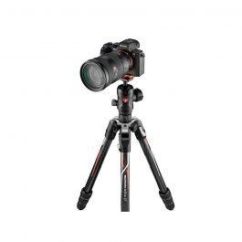 Manfrotto MKBFRTC4GTA-BH - Trípode Befree GT carbono diseñado para cámaras α de Sony