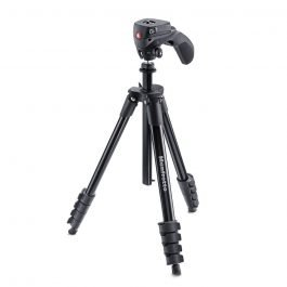 Manfrotto MKCOMPACTACN-BK - Trípode Compact Action negro