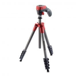 Manfrotto MKCOMPACTACN-RD - Trípode Compact Action rojo
