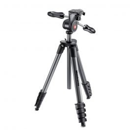 Manfrotto MKCOMPACTADV-BK - Trípode Compact Advanced con rótula 3 Way negro